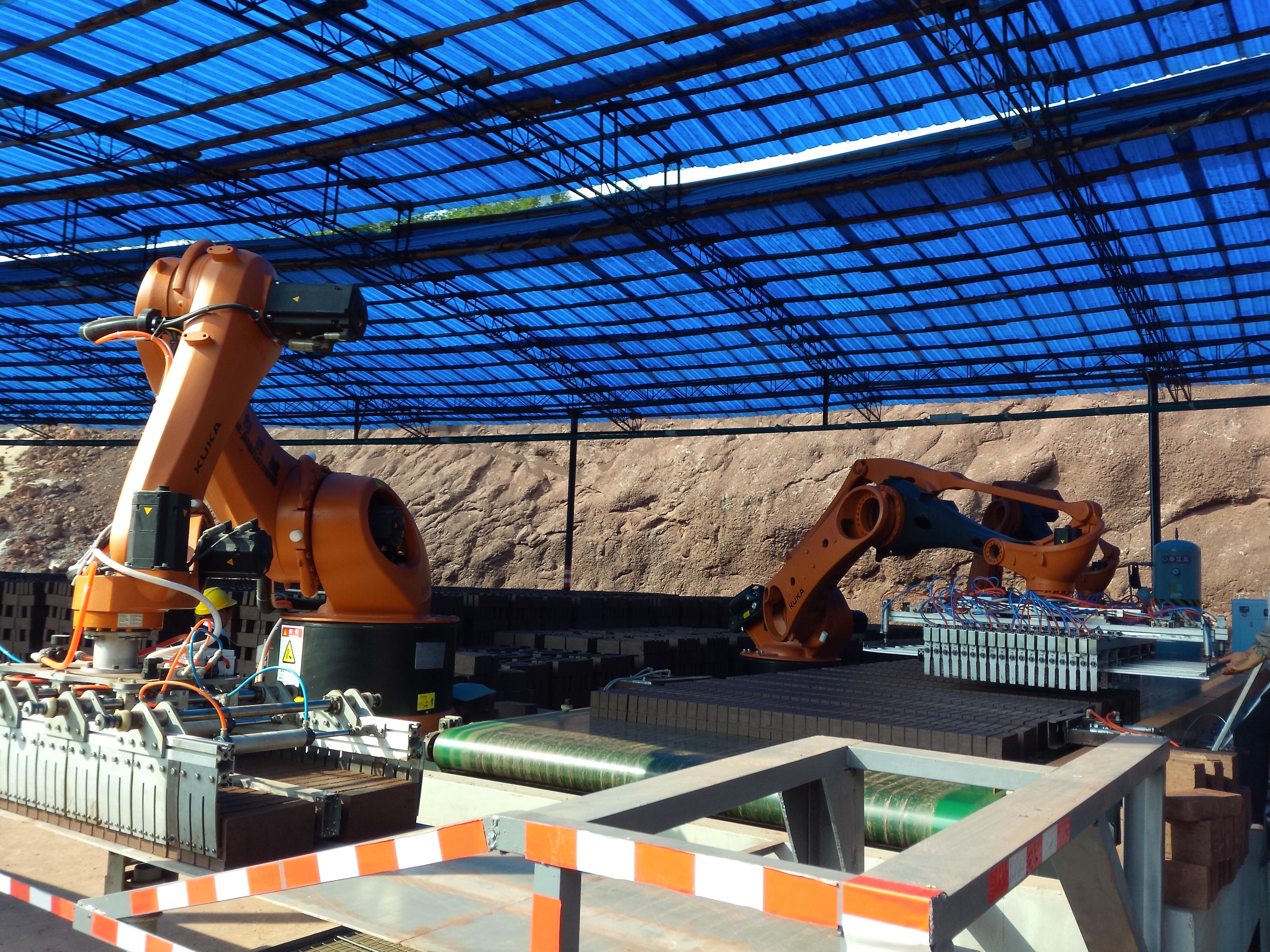 Hệ thống Robot xếp gạch kép Yaskawa 500kg